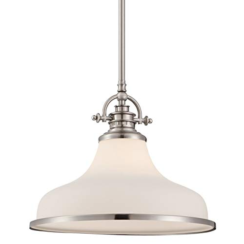 Contemporary Brushed Nickel 1 Light Pendant in US - 6