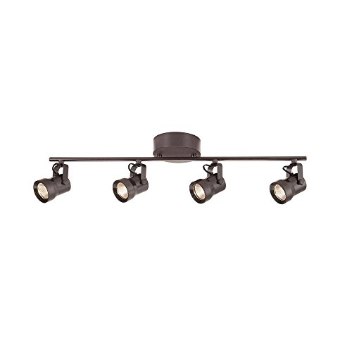 Hampton Bay 4-Light Directional Track Lighting Kit Bronze Right Track