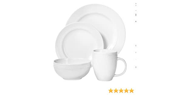 Amazon.com | ThresholdTM 16 Piece Round Beaded Dinnerware Set ...