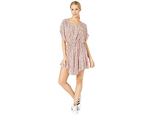 Free People Women's One Fine Day Mini Dress, Tea Combo, Red, Floral, ()