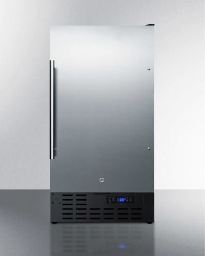 "Summit 18"" Wide Built-In All-Refrigerator -Stainless Stee..."