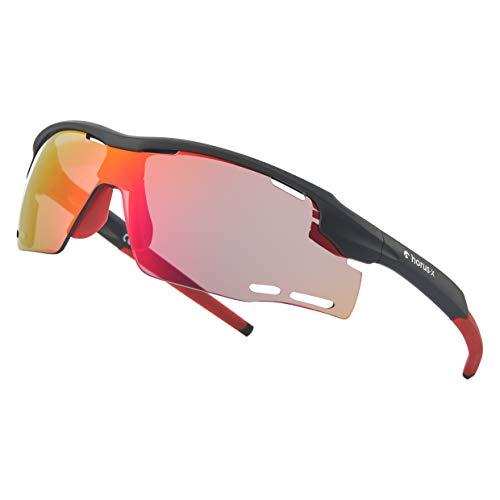 Horus X – Sport zonnebril – UV400 bescherming – Sport zonnebril voor Mountainbike Fietsen Hardlopen Buitensport – Heren…