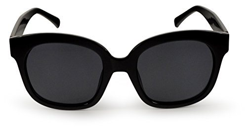 SoMuchSun Low Nose Bridge Sunglasses (Harley 8806) (Black Gloss, Polarized - Bridge Low Sunglasses