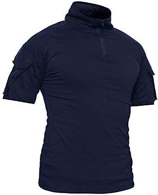 TACVASEN Camisa ejército Hombres Militar táctica Camiseta Outdoor ...