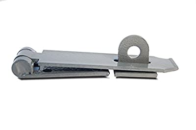 Heavy Duty Hardened Hammered Steel Security Hasp and Staple with Hardware, Vintage/Classic look! - Hidden Fittings