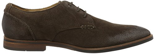 Clarks Herren Broyd Walk Derby Braun (Dark Brown Suede)