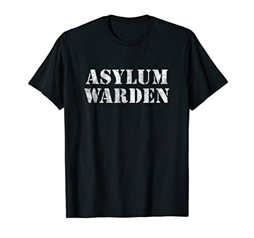 Asylum Warden Halloween Costume Shirt -