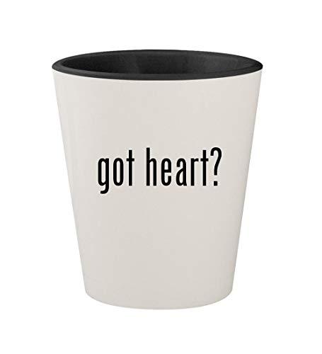 got heart? - Ceramic White Outer & Black Inner 1.5oz Shot Glass