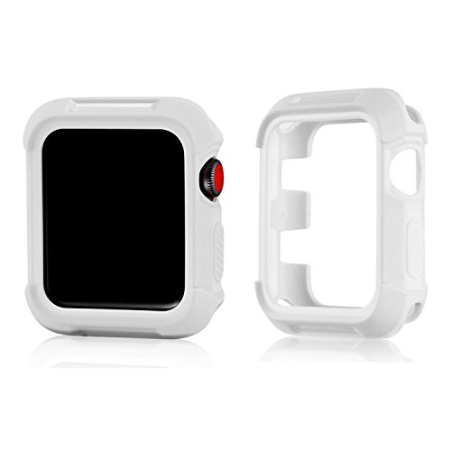 Compatible Apple Watch Bumper Case 42mm, MAIRUI Protector Rugged Cover Guard for Apple Watch Series 3/2/1, iWatch Sport, Edition, Nike+ (White)
