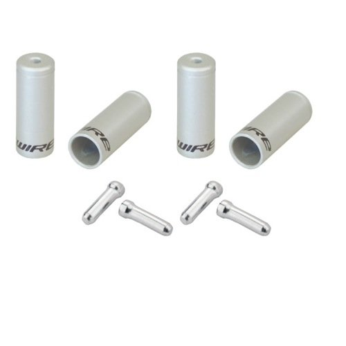 Jagwire End Cap Hop-Up Kit, Silver