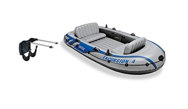 Intex Hinchable de excursión 4 Río/Lago Barco balsa Conjunto ...
