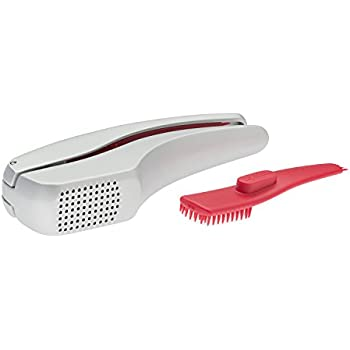 "ZYLISS Susi 3 Garlic Press ""No Need To Peel"" - Built in Cleaner - Crusher, Mincer and Peeler, Cast Aluminum"
