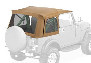 Bestop 51599-37 Spice Supertop Classic Replacement Soft Top with Clear windows; No doors included for 1976-1995 Jeep CJ7/Wrangler - Bestop Replacement Windows