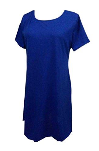 Sleeve Short Size Mini Round Dress Neck Jaycargogo Plus 2 Women Igpqxw6F6