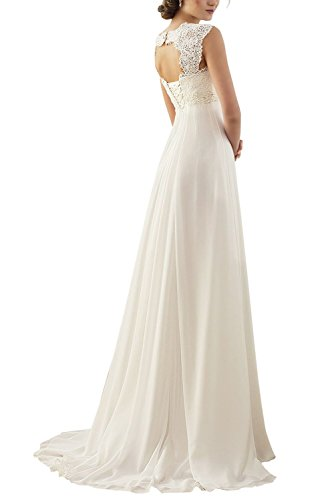 erosebridal new sleeveless lace chiffon wedding dress