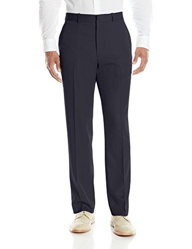 (Perry Ellis Men's Solid Modern Fit Performance Pant, Dark Navy, 34x32)
