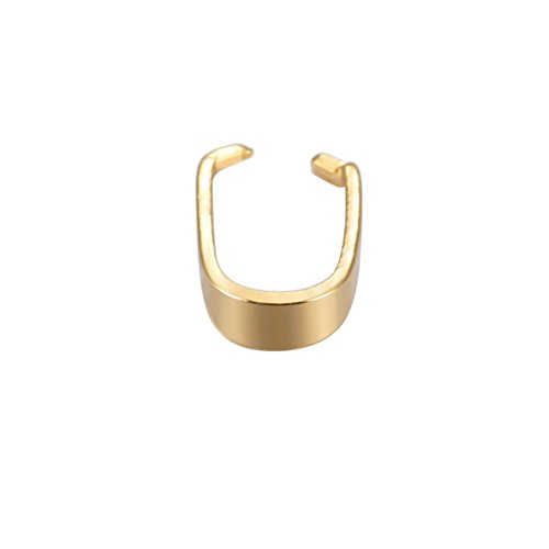 10PCS Stainless Steel Gold Plated Pinch Clips Bail Connectors Findings Jewelry Making 7mmx6mm