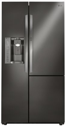 """LG LSXS26366D 36"""" French Door Refrigerator with 26.1 cu. ft. Total Capacity, in Black Stainless Steel"""