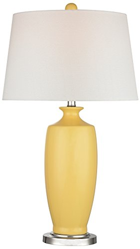 Price comparison product image Dimond Lighting D2505-LED Halisham Ceramic Table Lamp,  Sunshine Yellow