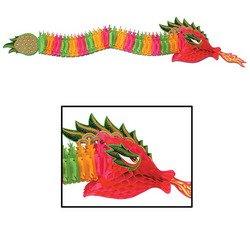 Chinese Paper Dragon Costume (Beistle 55852 Tissue Dragon, 6-Feet)