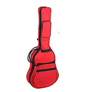 YWAWJ Gitarrentasche Double Back Wooden Guitar Bag 38/39 Zoll (Color : Red)
