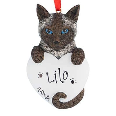 (Siamese Cat Personalized Ornament - (Unique Christmas Tree Ornament - Classic Decor for A Holiday Party - Custom Decorations for Family Kids Baby Military Sports Or Pets))