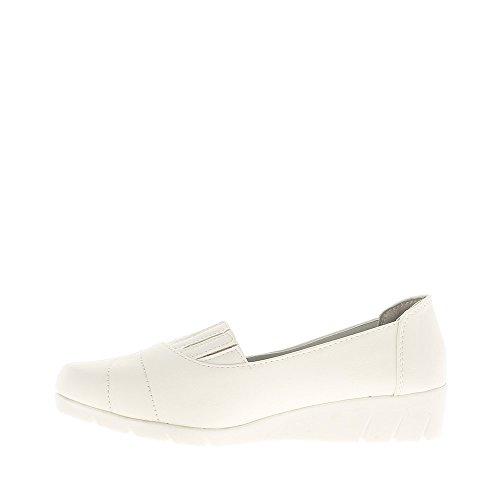 Las mujeres zapatos blanco confort con elástico superior