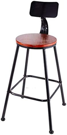 WXXSL Nordic solid wood bar stool, High chair, Modern minimalist bar stools, suitable for kitchen, bar, salon, spa