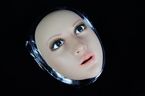 BLV- 2 Crossdresser Cross Dressing Silica Gel Mask Transgender Makeup Mask (Black (Halloween Crossdressing)
