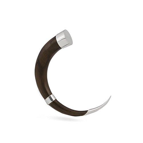 Elementals Organics Silver Accented Sono Wood Talon - Price Per 1 - 4mm ~ 6g