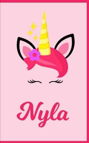 (Nyla: Personal Notebook | Personal Diary | Unicorn Notebook | Writing Journal | Personalized Notebook | Custom Name Notebook | Unicorn Gift | Unicorn Birthday Notebook)