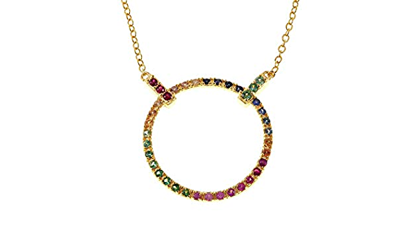 Jewelry set en argent sterling 925 avec collier et boucles d/'oreilles avec 4.45 CT SAPHIR