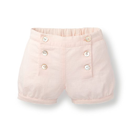 Hope & Henry Baby Girls Banded Short Made with Organic Cotton