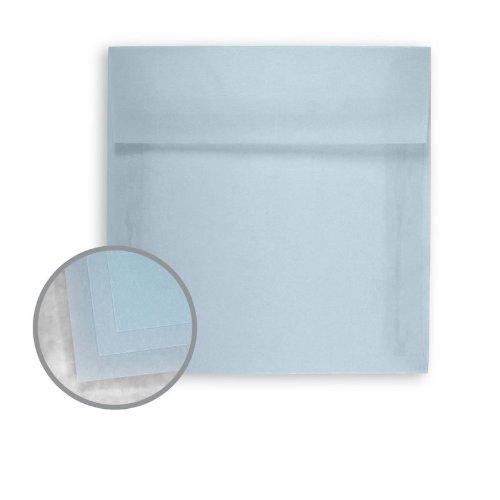 Glama Natural Pastel Blue Envelopes - No. 7 Square (7 x 7) 27 lb Bond Translucent Vellum 250 per Box ()
