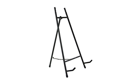 Modern Metal Tripod Plate Stand and Art Holder Easel in Black - -