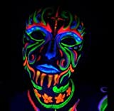 Black Light Reactive Neon Makeup with Black Light Pendant (Yellow)