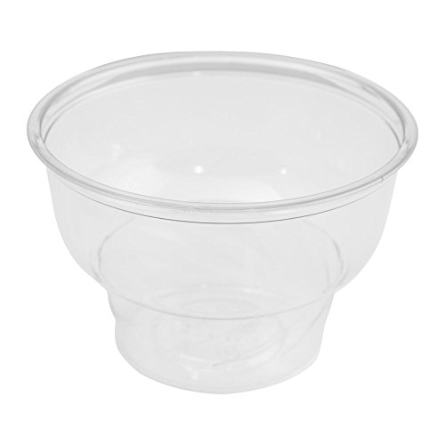 8 oz Clear Plastic Ice Cream Sundae Cups, Holds Several Scoops of Your Favorite Frozen Dessert, Perfect Cups For On The Go Eating, Perfect for Ice Cream, Yogurt, Snacks and Other Delicious Treats by Frozen Dessert Supplies (Image #2)
