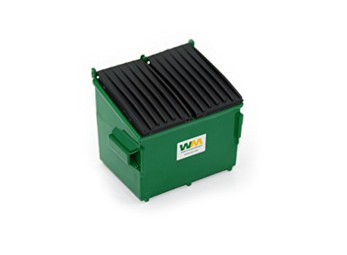 (First Gear 1/34 Scale Diecast Collectible Waste Management Refuse Bin (#90-0169T))