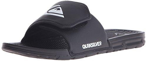 Quiksilver Slip Sandals - Quiksilver Men's Shoreline Adjust Sandal, Black/Black/White, 6 M US