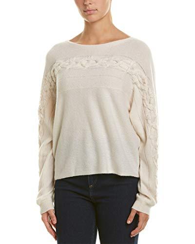 White + Warren Womens Dolman Cashmere Sweater, M Ivory