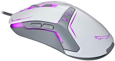 G-RF Souris Filaire, V12 USB 2400DPI à Quatre Vitesses réglable Souris Filaire Optique Gaming avec LED Respirer Lumière, Longueur: 1,45 m (Noir) (Color : Black) White