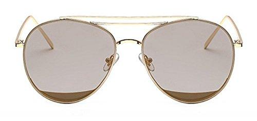 Gafas De JUNHONGZHANG De Pieza De Gafas re Decorativas Metal De Mujer Mar De Sol A Gafas De Moda De De Sol Sol Gafas f7fFHWS