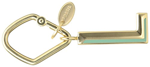 Fossil Letter Key FOB, Gold with enamel L