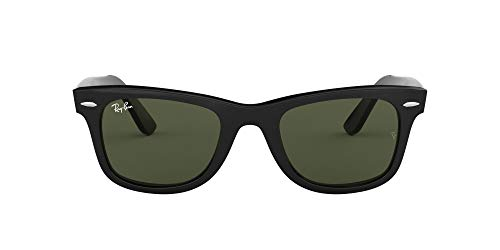 Ray-Ban RB2140 Original Wayfarer Sunglasses, Black/Green, 54 mm (Arten Von Rayban Wayfarers)