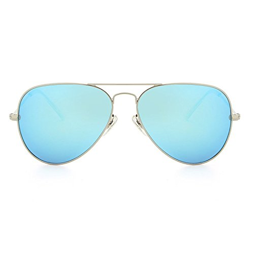 Vue JCH polarisées Lunettes Oculos Classiques Aviador de Designer pour Hommes Polarizado de Lunettes Marque Femmes ovales Soleil Silver blue twtrvPdZWq