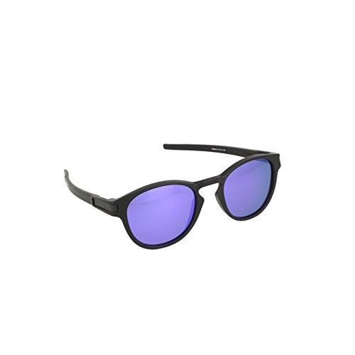 Oakley Men's OO9265 Latch Oval Sunglasses, Matte Black/Grey, 53 ()