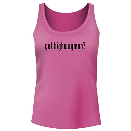 One Legging it Around got Highwayman? - Women's Funny Soft Tank Top, Pink, Medium