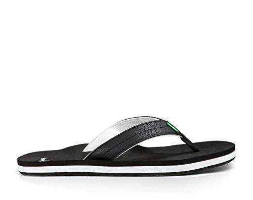 Sanuk Mens Burm Sandaler Och Oxy Sko Renare Bunt Svart / Vit