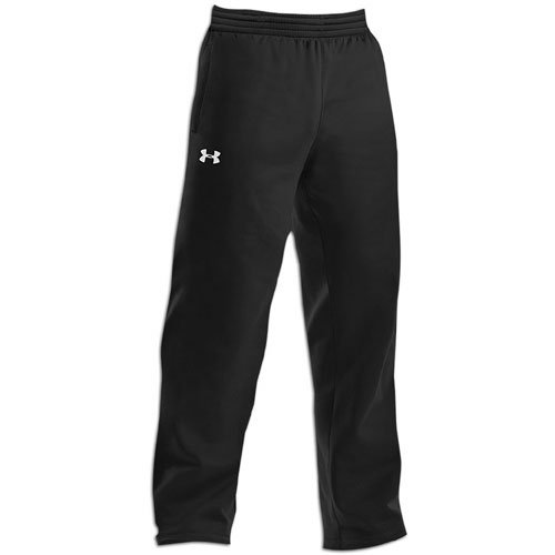 Under Armour Mens Fleece Open Bottom Team Pant Black/White Size Medium by Under Armour