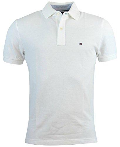 Tommy Hilfiger Men Custom Fit Polo T-shirt (M, White)